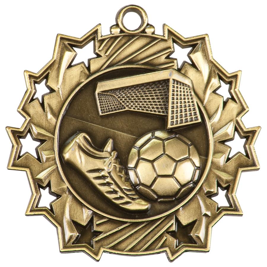 Ten Star Soccer Medal